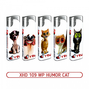 Зажигалка XHD 109 WP Humor Cat