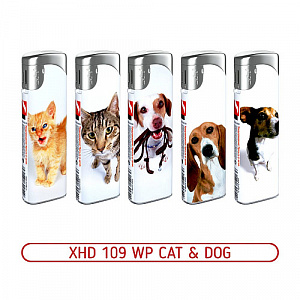 Зажигалка XHD 109 WP Cat & Dog