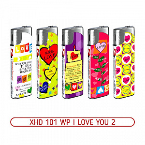 Зажигалка XHD 101 WP I Love You 2