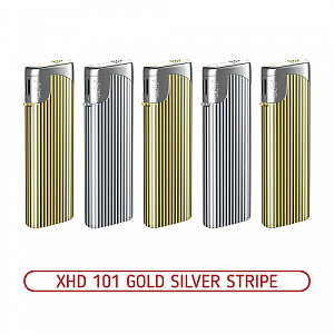 Зажигалка XHD 101 Gold/Silver Stripe