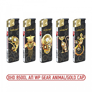 Зажигалка XHD 8500L АП WP Gear Animal/Gold Cap